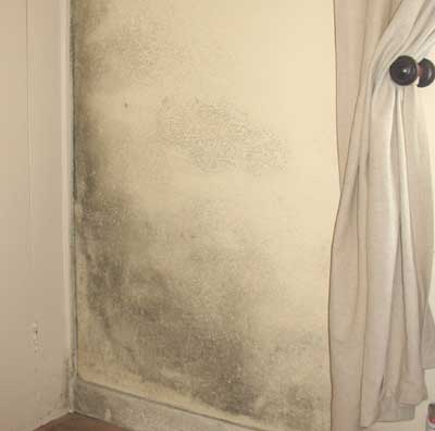 Black mold in a Greek villa